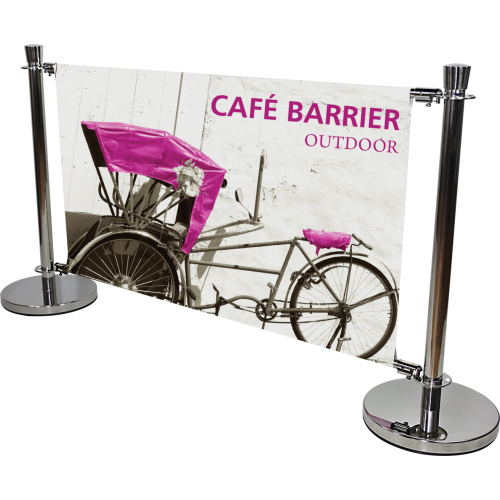 Cafe Barrier Indoor/Outdoor Banner Stand System